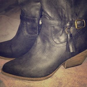 XOXO Black Cowboy Boots - NEVER WORN